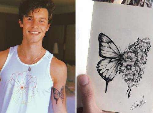 Shawn Mendes fez uma nova tatuagem com desenho de sua fã!