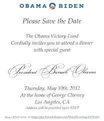 Invitación a cena presidencial 2012