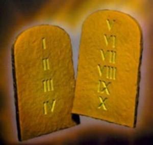 Tablas de la ley - Diez Mandamientos