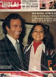 Julio Iglesias e Isabel Presley, portada HOLA nº 1703, (1977)