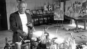 Picasso en su estudio