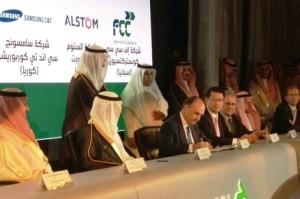 Firma del contrato del Metro de Riad
