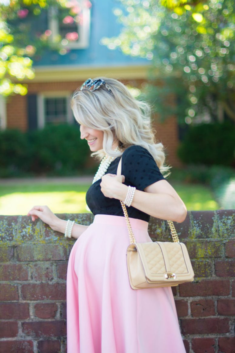 The Best Girly Maternity Look-1-11