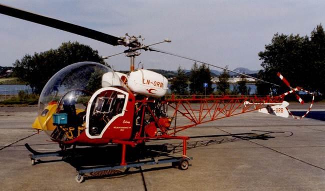 Den ferdig restaurerte Bell 47