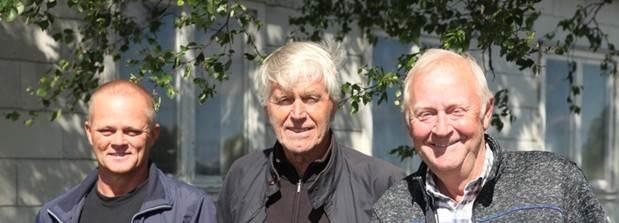 Fra venstre Sigurd Olaf Roth , Fred Roland og Roar Sandvol