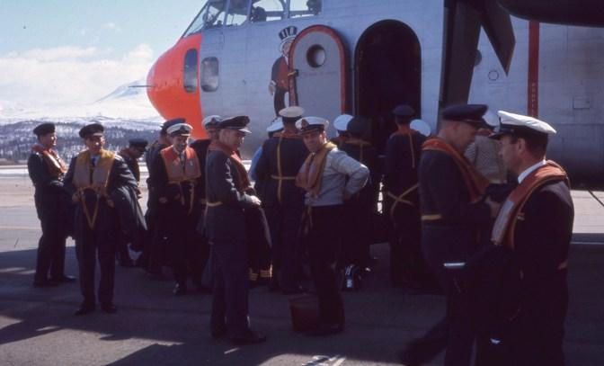 LSTS går om bord i Fairchild C-119 Flying Boxcar på Bardufoss i mai 1968. Foto: Arne Thorvaldsen / Jærmuseet avd. Flyhistorisk Museum Sola