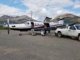 Pilatus PC 12 etter landing i Anaktuvuk