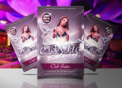Exotic Saturdays Flyer Template
