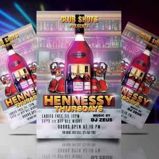 Hennessey Thursdays Flyer Template
