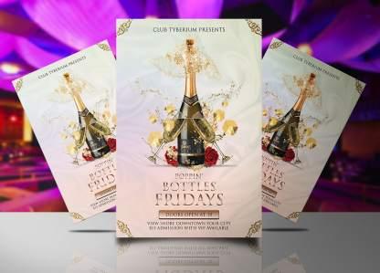 Poppin Bottles Friday Flyer Template