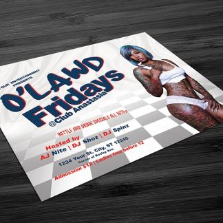 O'Lawd Fridays Flyer Template