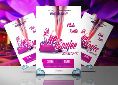 Oh She Boujee Flyer Template
