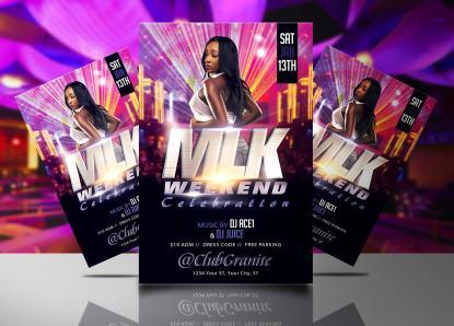 MLK Weekend Celebration Flyer Template