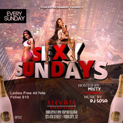 Sexy Sundays Flyer Template