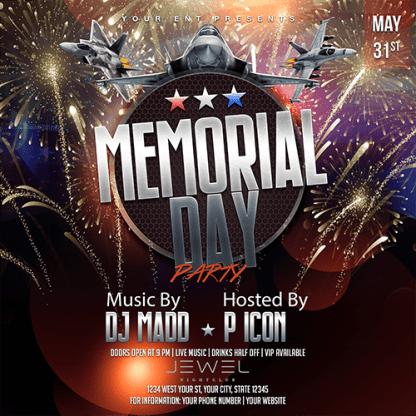 JAF Creative Studios - Memorial Day Event Flyer