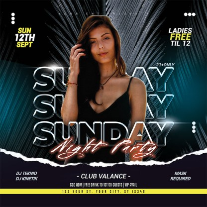 Sunday Night Party Flyer Template