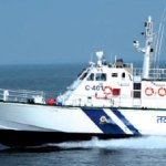 Coastguard vessels near Puri beac