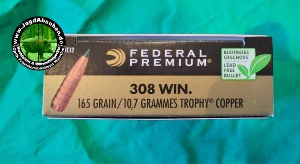 Federal Trophy Copper .308 165Gr bei Jagdabsehen