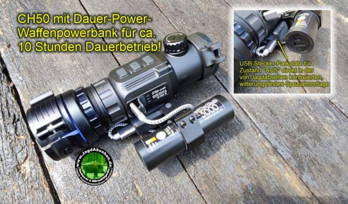 Jagdabsehen INFIRAY CH50-2021 10h-Powerbank mit Wärmebildvorsatzgerät-Plug & Play 1
