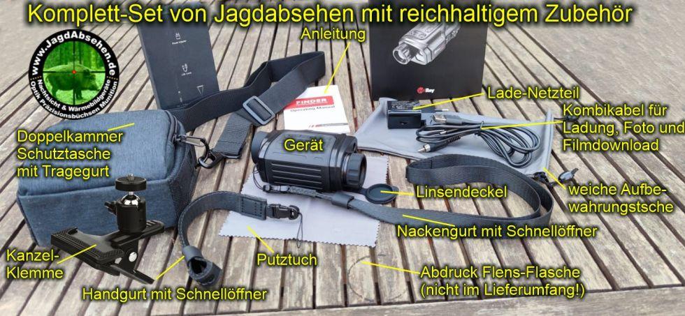 Jagdabsehen KanzelSet Wärmebildhandgerät Infiray Laser Finder 25R mit 600m Laser-Entfernungsmesser Komplett-Set mit reichlich Zubehör