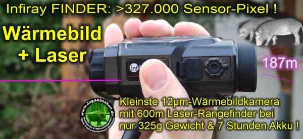 Jagdabsehen KanzelSet Wärmebildhandgerät Infiray Laser Finder 25R mit 600m Laser-Entfernungsmesser mit Kanzelmontage 0