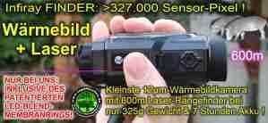 Jagdabsehen KanzelSet Wärmebildhandgerät Infiray Laser Finder 25R mit 600m Laser-Entfernungsmesser mit Kanzelmontage 01 und Blendmembranring