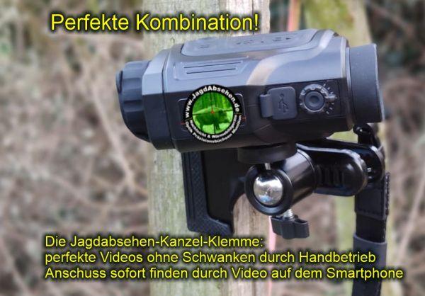 Jagdabsehen KanzelSet Wärmebildhandgerät Infiray Laser Finder 25R mit 600m Laser-Entfernungsmesser mit Kanzelmontage perfekte Kombination