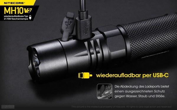 USB-C aufladbare Einsatzlampe Nitecore MH10V2 bei Jagdabsehen