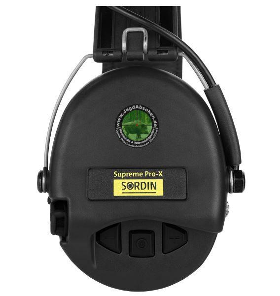 Sordin Supreme Pro-X LED Aktiver Kapselgehörschutz - Kapseln+Gelkissen+Lederband=Schwarz bei Jagdabsehen Karlsruhe 1