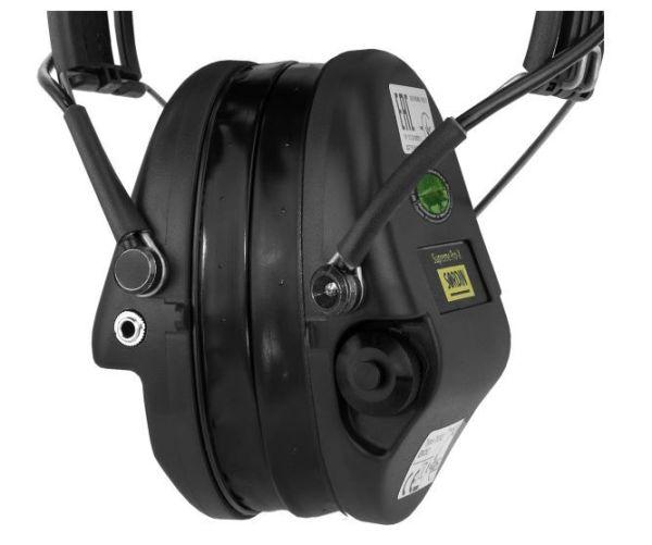 Sordin Supreme Pro-X LED Aktiver Kapselgehörschutz - Kapseln+Gelkissen+Lederband=Schwarz bei Jagdabsehen Karlsruhe 3