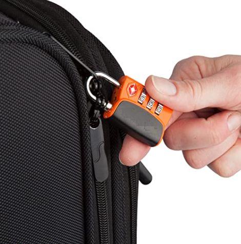 TSA-Gepäckschloss am Futteral