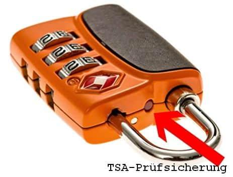 TSA-Gepäckschloss mit Prüfsicherung