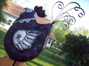 Rooster Garden Ornament