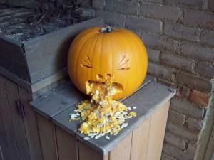 Pumpkin carving photo perfect for fall