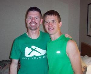 Curt and Kyle at Grandma's Marathon, MN