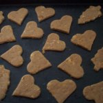 home made heart and tree shaped dog treats