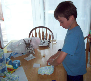 rolling diapers for a diaper cake