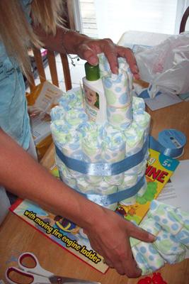 baby diaper cake for boys