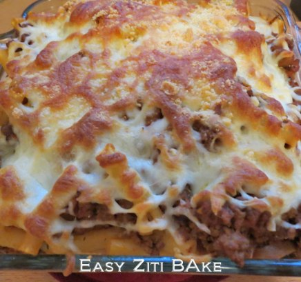 This Ziti bake is golden brown