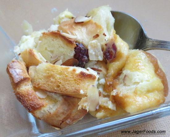 Leftover Bagel Bread Pudding