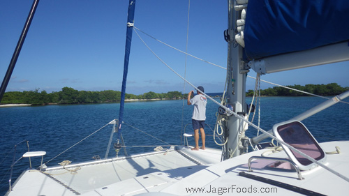 Arriving at Cary Caye in Belize
