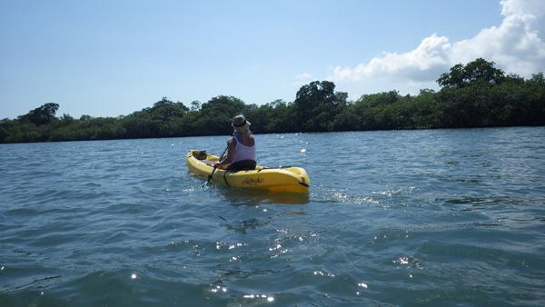 Silke in Kayak taken with Pentax camera