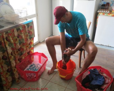 off the grid living and laundry