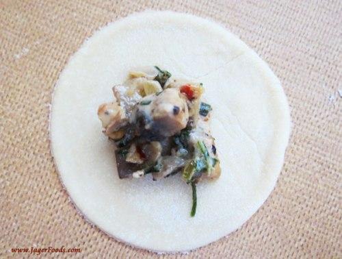 Mushroom filled Ravioli