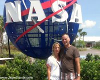 Nick and Silke sightseeing at NASA while house sitting
