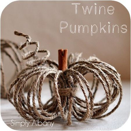 DIY Twine Pumpkin