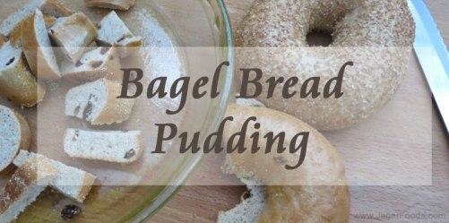 Easy bagel bread pudding recipe