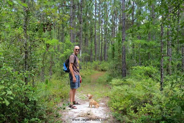 Nick and Lily on the Palmetto Trail in SC
