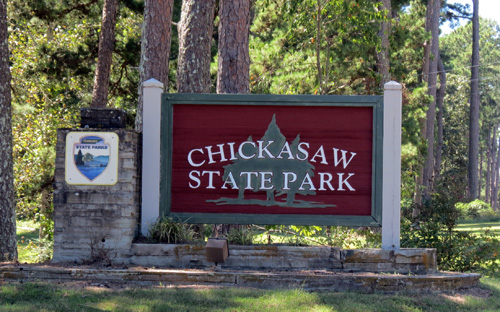 Chickasaw State Park Entrance