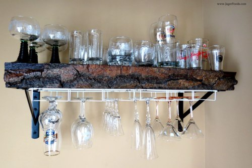 DIY Glass Rack